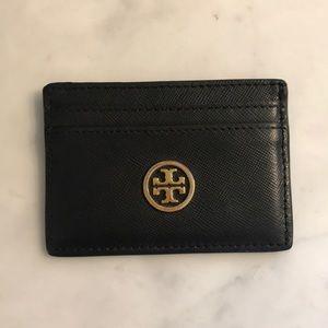 Tory Burch leather slim card case